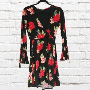 Topshop Floral Dress with Bell Sleeves - Sz 4
